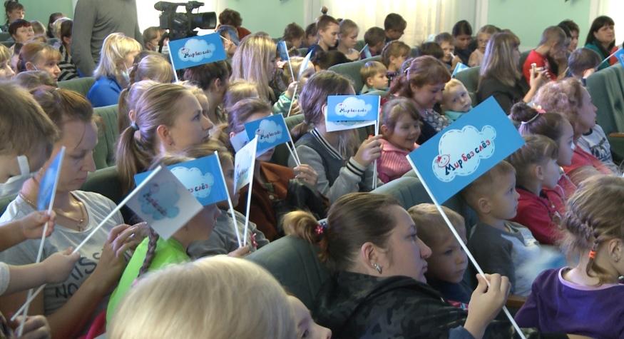 Банк ВТБ и герои любимой детской телепередачи подарили сертификат на оборудование АОДКБ