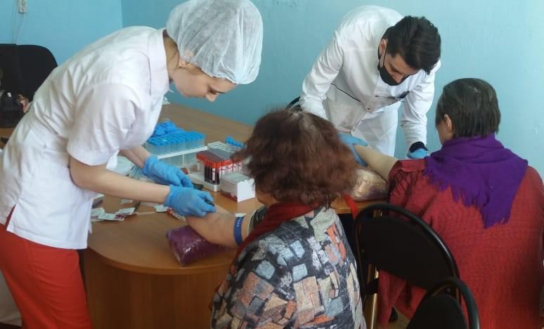 Ветераны Великой Отечественной войны прошли медицинское обследование